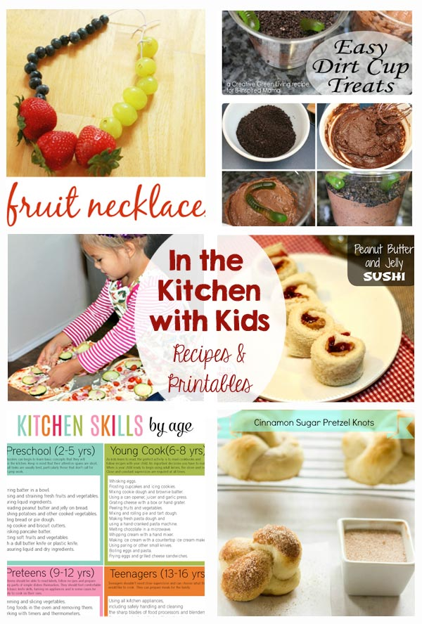 In the Kitchen with Kids - Recipes and Printables - My kids love to help in the kitchen. These ideas are great!
