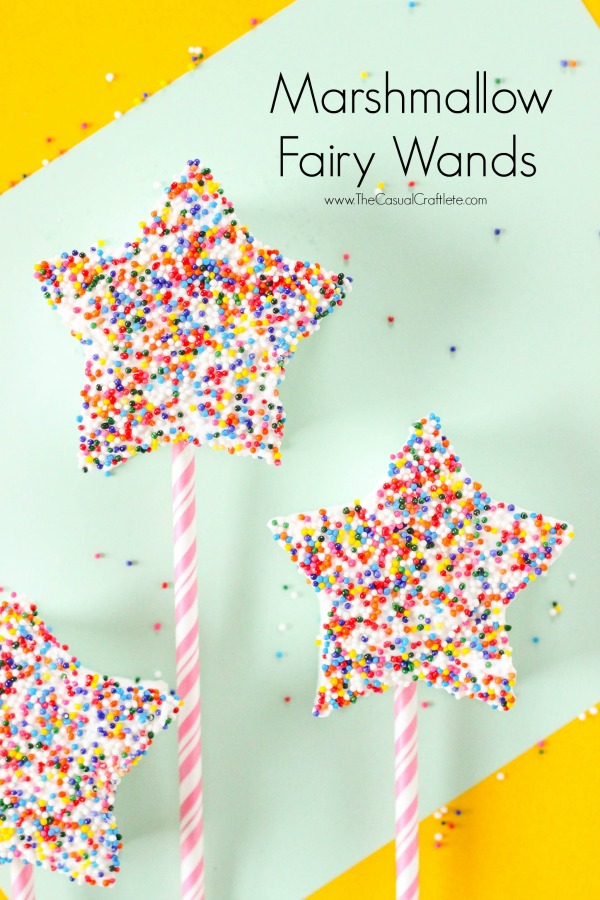 Marshmallow Fairy Wands - a fun cooking the the kitchen activity