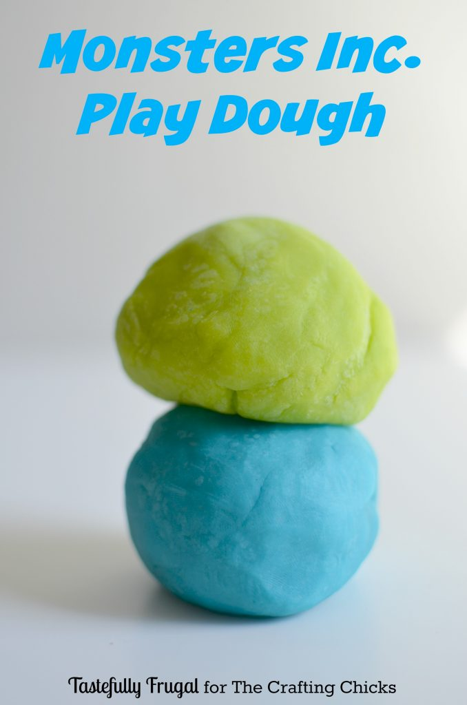 Monsters Inc Play Dough Tastefully Frugal for The Crafting Chicks