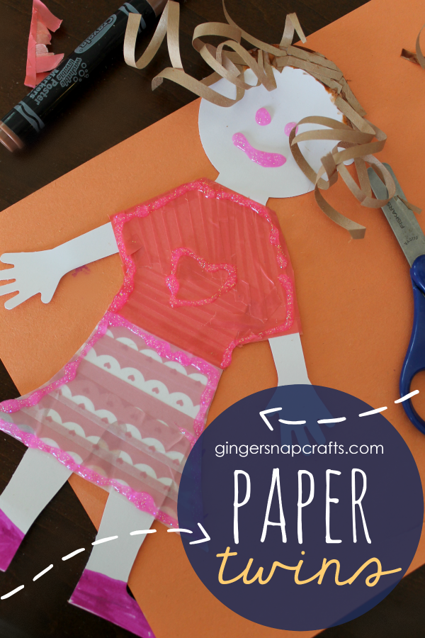 Paper Twins from GingerSnapCrafts.com #papercrafts #kidscraft