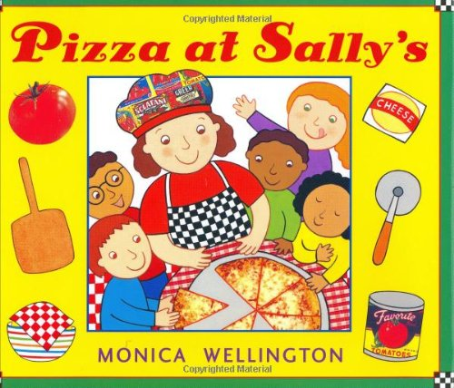 cooking pizza at Sally's