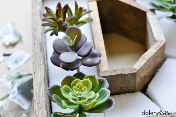 faux succulent pick wreath