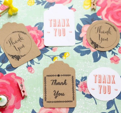 Thank You Tags – Free Printables