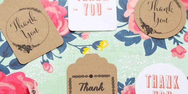 Thank You Tags – Free Printables
