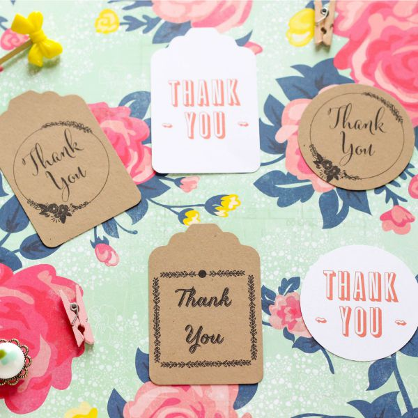 photograph about Thank You Printable Tag titled Thank Your self Tags - Free of charge Printables