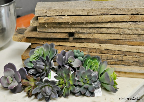 monogram succulent wreath supplies