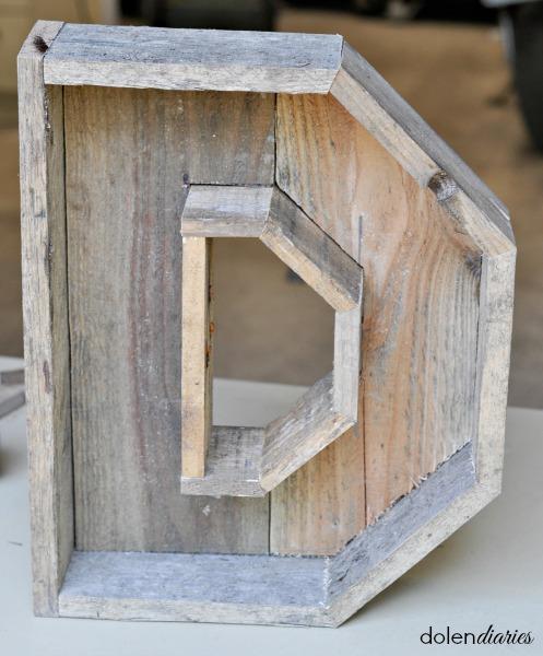 pallet wood monogram wreath frame