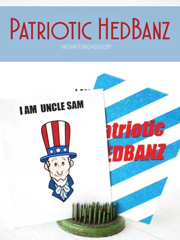 graphic regarding Hedbanz Cards Printable called Patriotic HedBanz