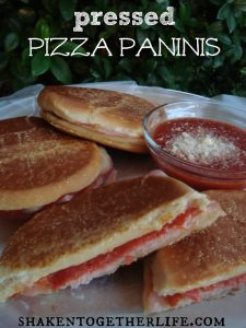 Pressed Pizza Paninis from Shaken Together