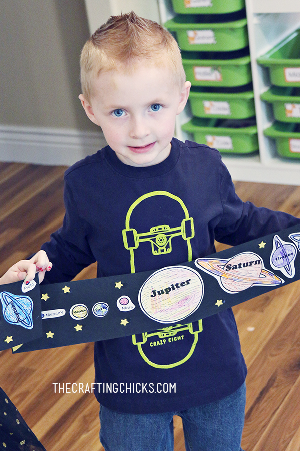 Solar System Kids Craft