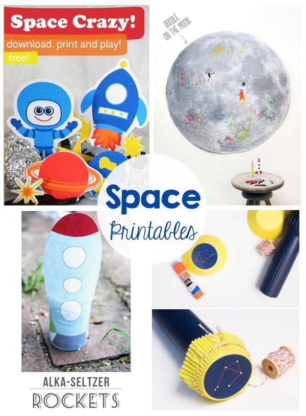 Space Themed Kids Activities - Printables, games, recipes, and more! These are perfect for a lazy summer day!