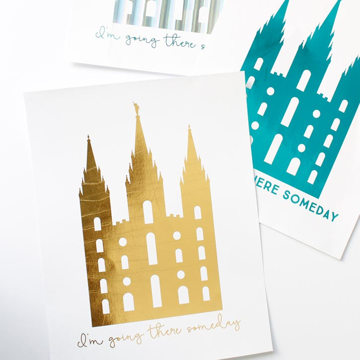 I'm Going There Someday Foil Temple Print