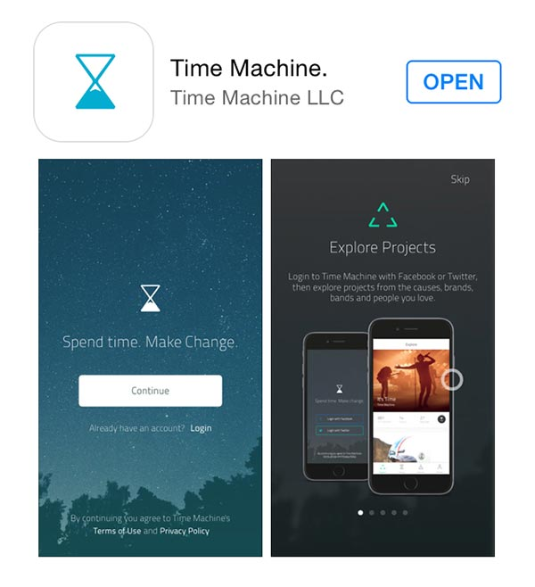 Time Machine App