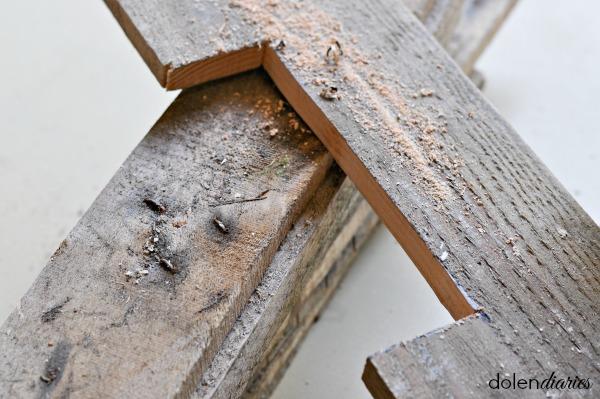 wood monogram pieces