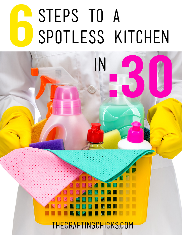5 steps to a spotless kitchen in 30 minutes