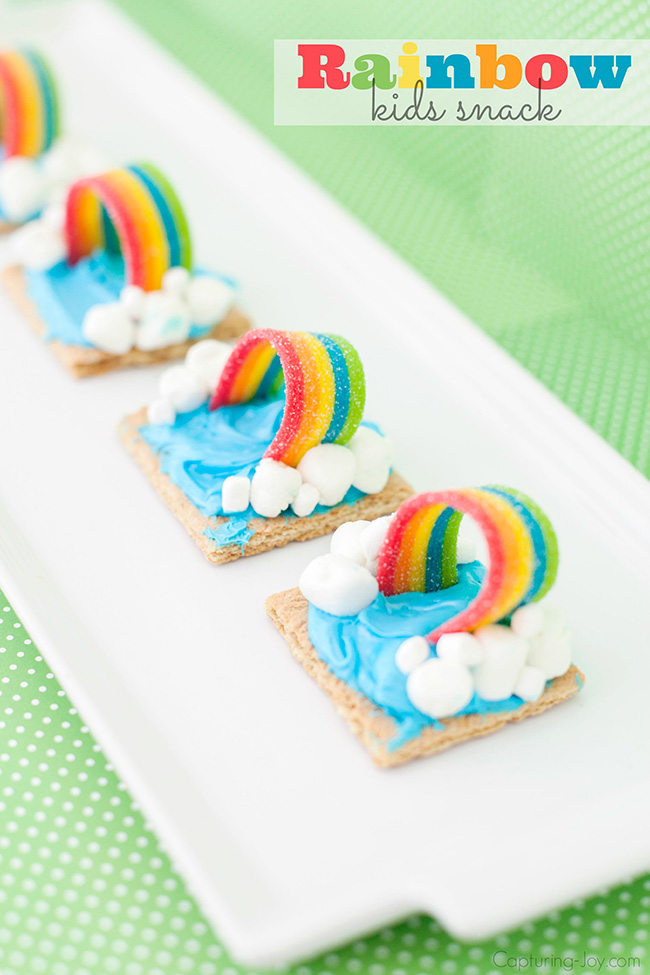 Rainbow kids snack idea