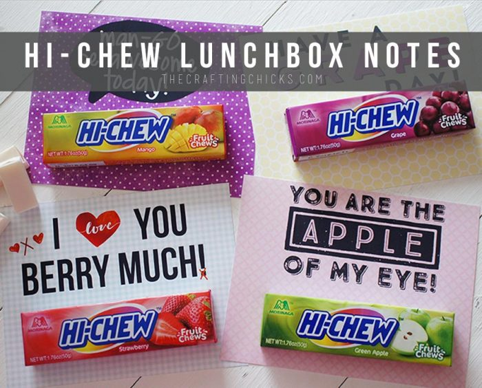 HI-Chew Lunchbox Notes