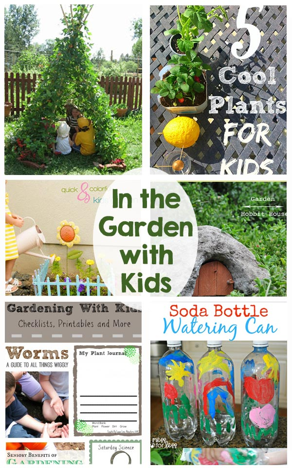 In the Garden with Kids - Activities and Printables - So many ideas!  Perfect for keeping the kids busy this summer!