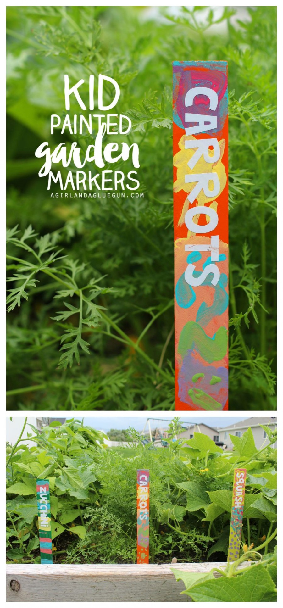 Kid Painted Garden Markers