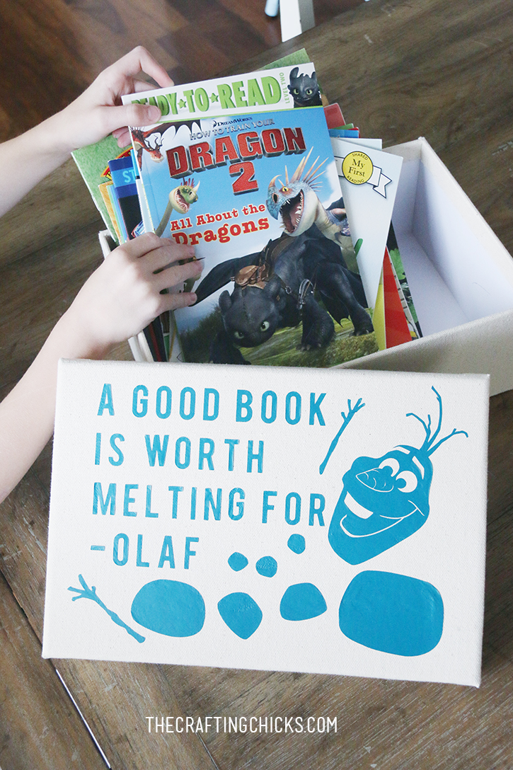 DIY Olaf Book Box