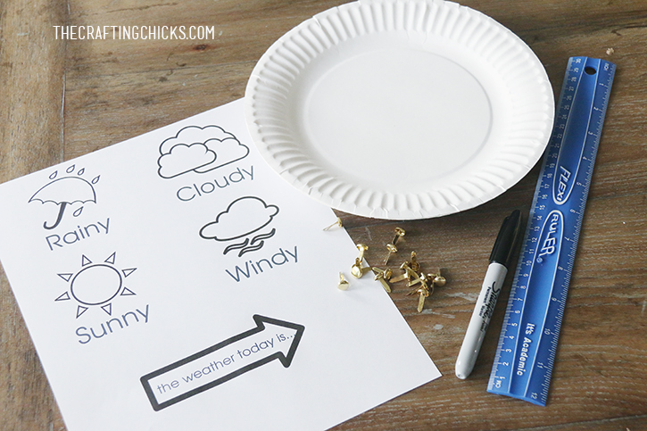 Preschool Weather Chart Craft