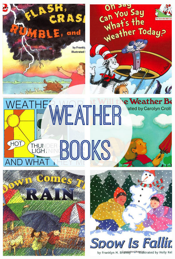 weather book collage