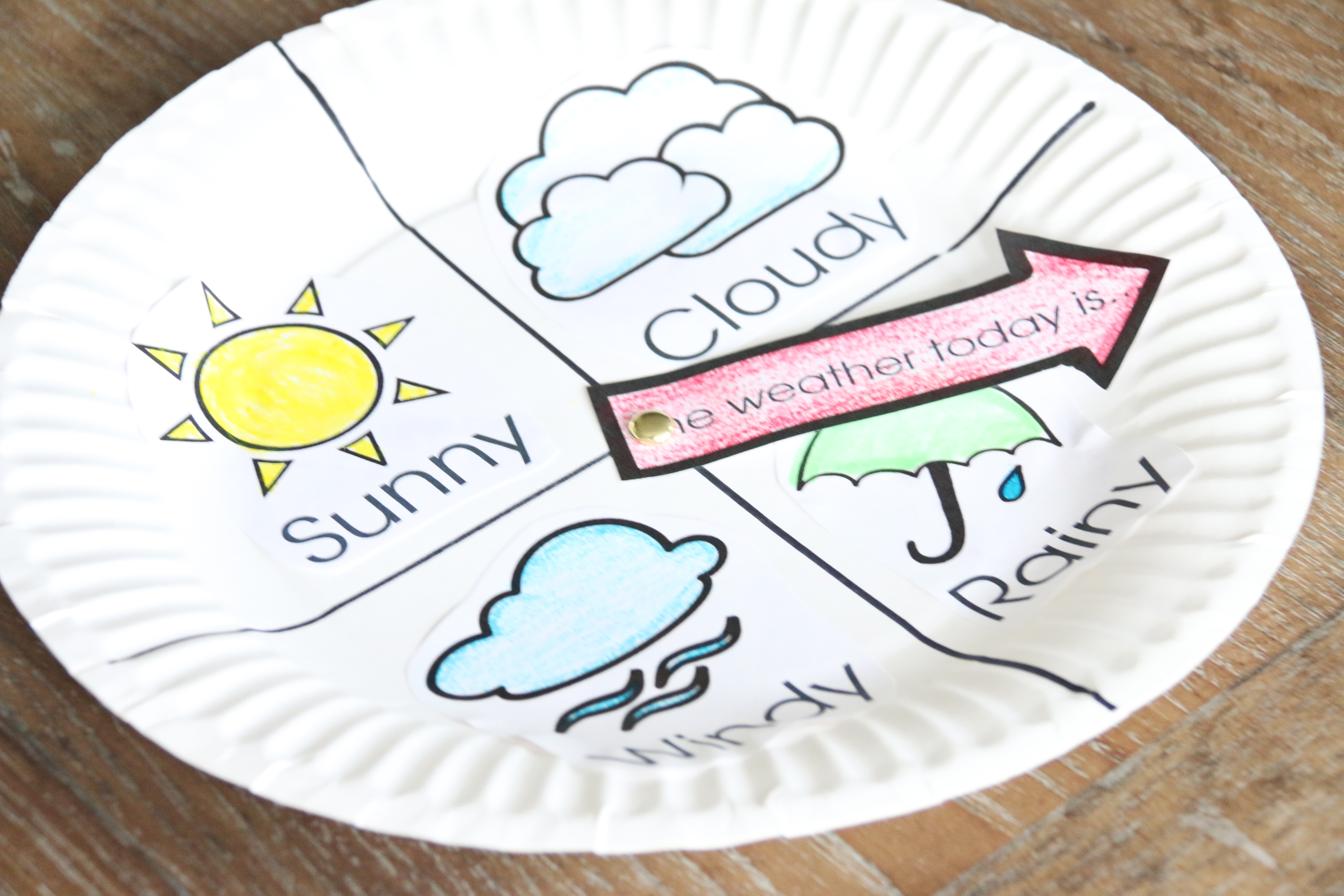 Weather chart kid craft the crafting chicks for Chart paper craft work
