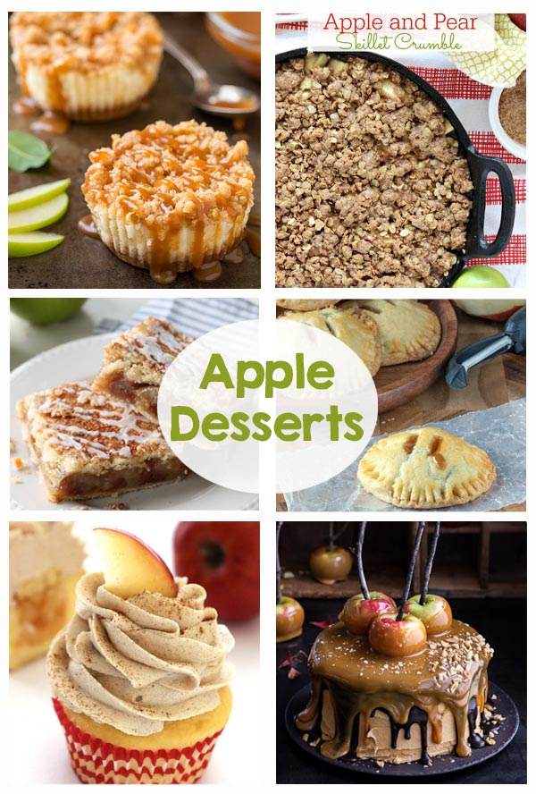 Favorite Apple Desserts - I love so many of these recipes! These are perfect for fall!