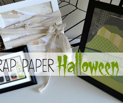 Scrap Paper Halloween Art