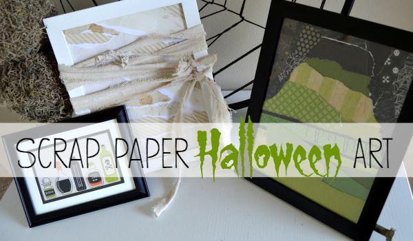 Scrap Paper Halloween Art