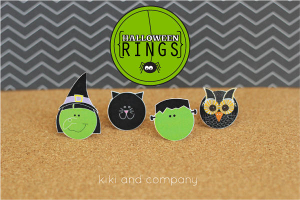 Halloween Rings from kiki and company. Love these!