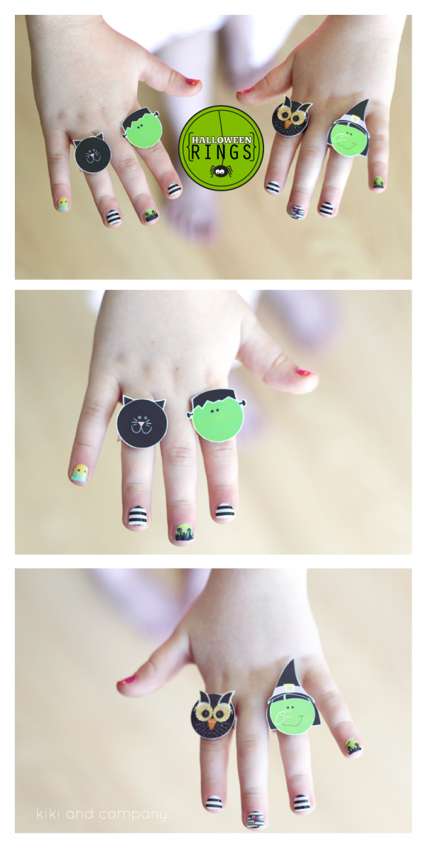 Halloween Rings from kiki and company. My kiddos will LOVE making these