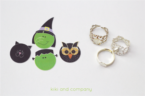 Halloween Rings from kiki and company. So easy and cute!