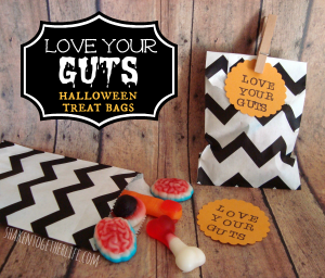 Love Your Guts Halloween Treat Bags from Shaken Together