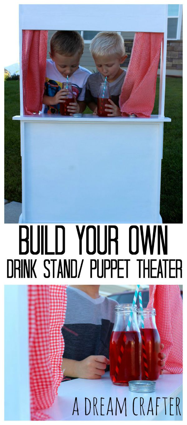 Build your own drink stand with this easy to follow tutorial!