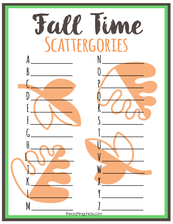 sm fall time scattergories