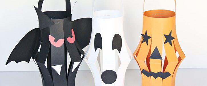 Halloween Paper Lanterns Kid Craft