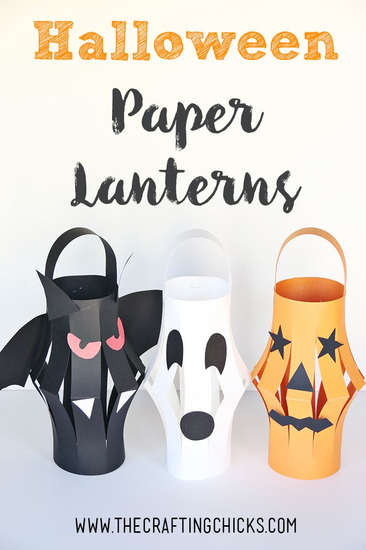Halloween Paper Lanterns Kid Craft  The Crafting Chicks - Craft For Home Decoration