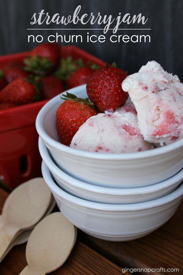 Strawberry Jam No Churn Ice Cream