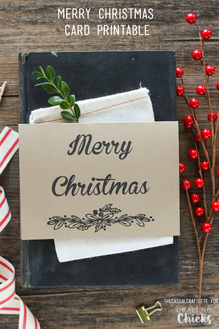 Free Merry Christmas Card Printable