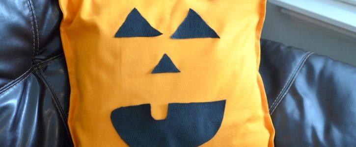 No Sew Jack-O-Lantern Pillow