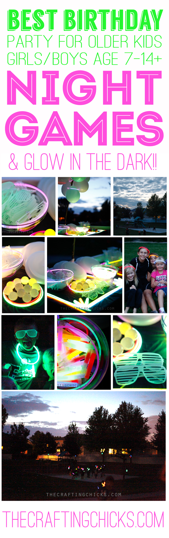 Night Games and Glow in the Dark Party from The Crafting Chicks