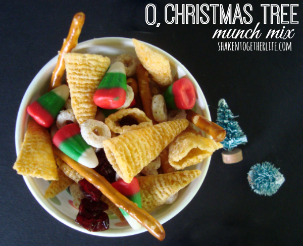 O Christmas Tree Munch Mix from Shaken Together