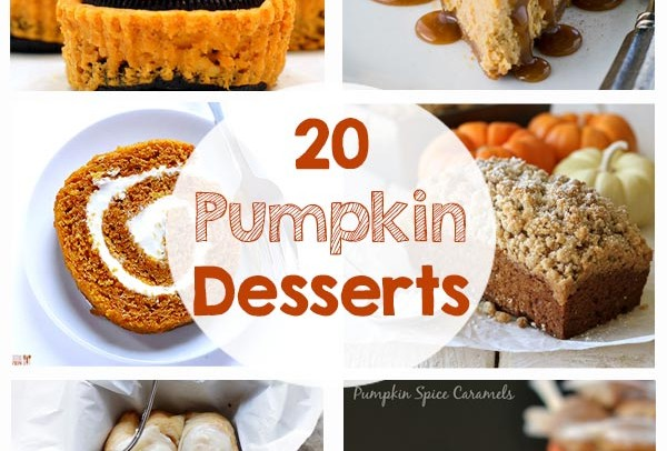 20 Yummy Pumpkin Desserts