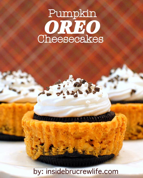 Pumpkin Oreo Cheesecakes from Inside Bru Crew Life