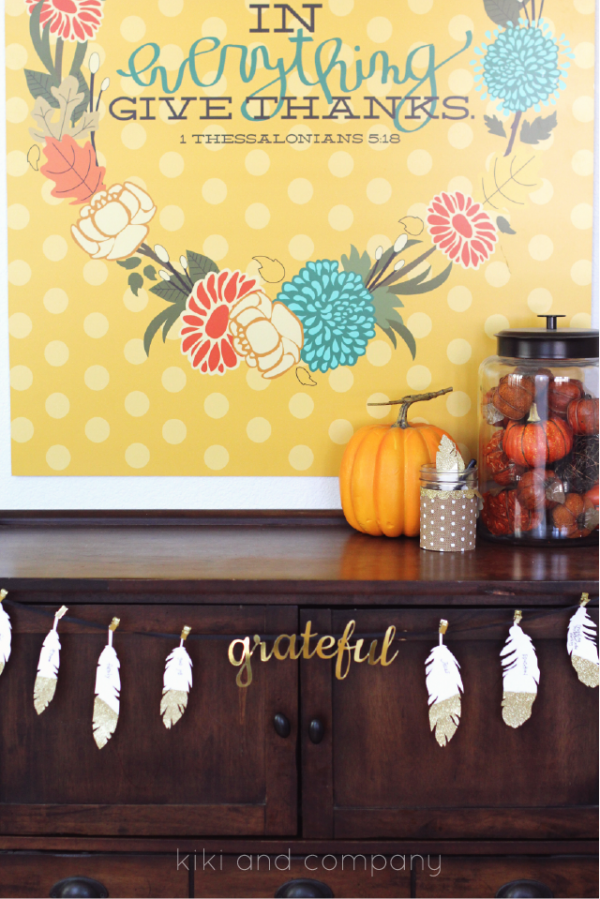 Thanksgiving Feathers free printable from kiki and company. Love these!