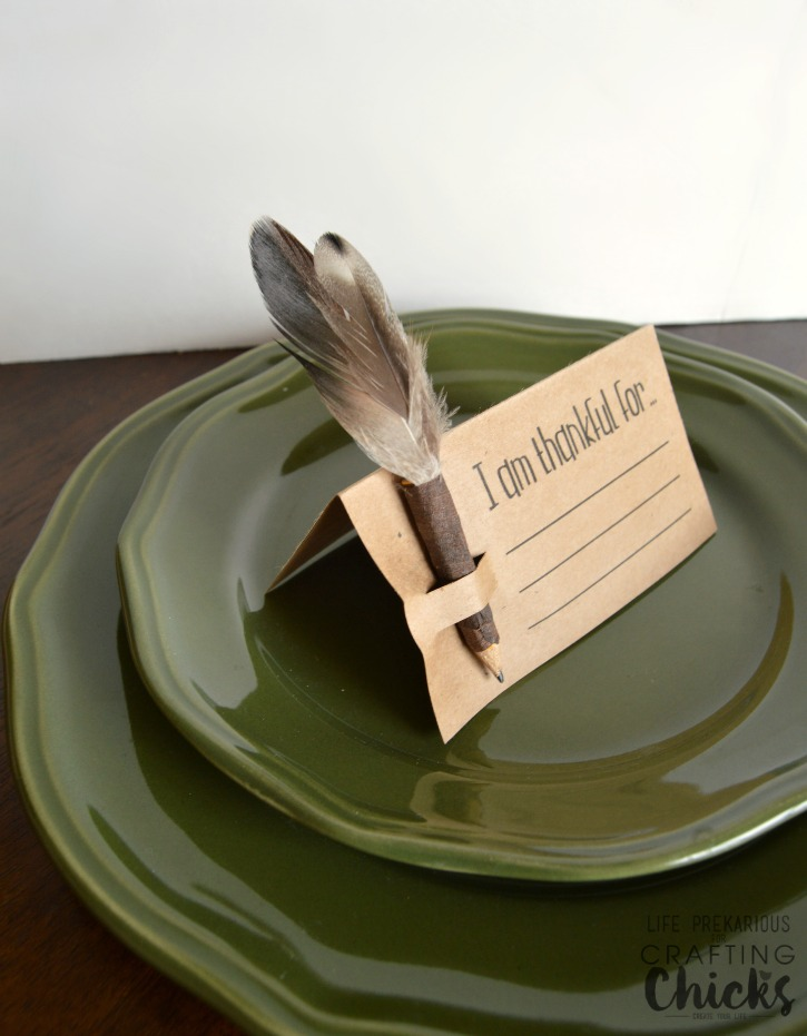 DIY Thanksgiving Place Card