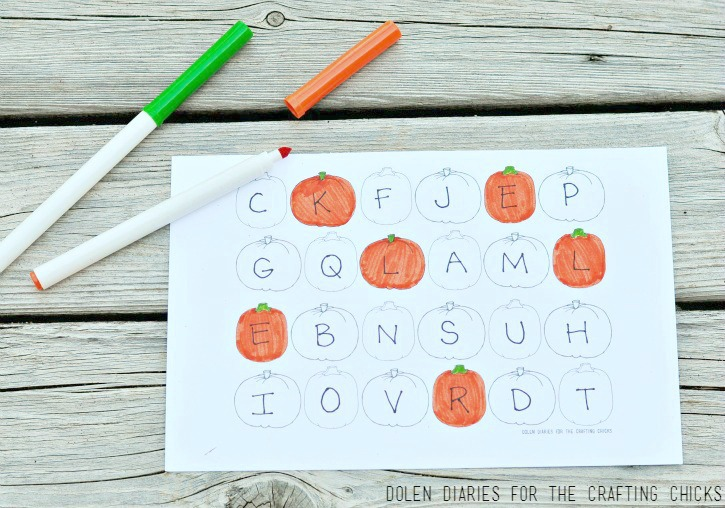 Using Coloring Pages for Letter Hunts
