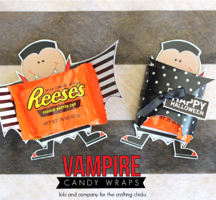 Halloween Vampire Candy Wraps