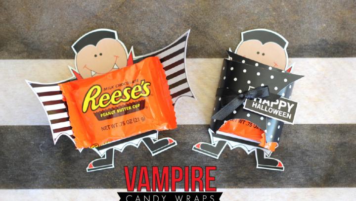 Halloween Vampire Candy Wraps